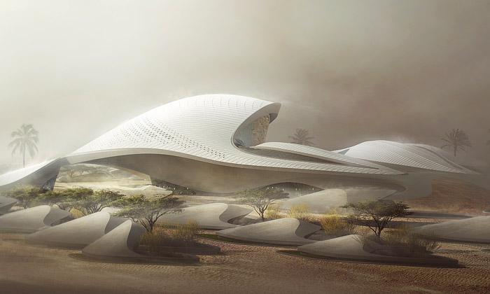 Zaha Hadid navrhla ústředí Beeah jako duny zpísku