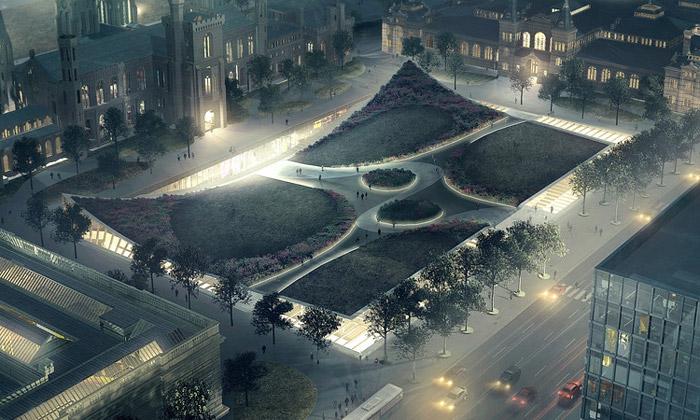 BIG postaví veWashingtonu DC muzeum vpodzemí