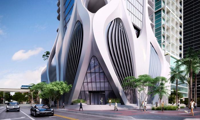 Zaha Hadid staví vMiami obytnou věž 1000 Museum