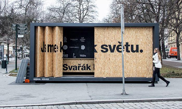 Plzeň sechlubí kontejnerem fungujícím jako bar