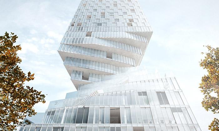 MVRDV postaví veVídni zkroucenou Turm mit Taille