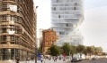 Vítězný návrh na věž Turm mit Taille ve Vídni od MVRDV