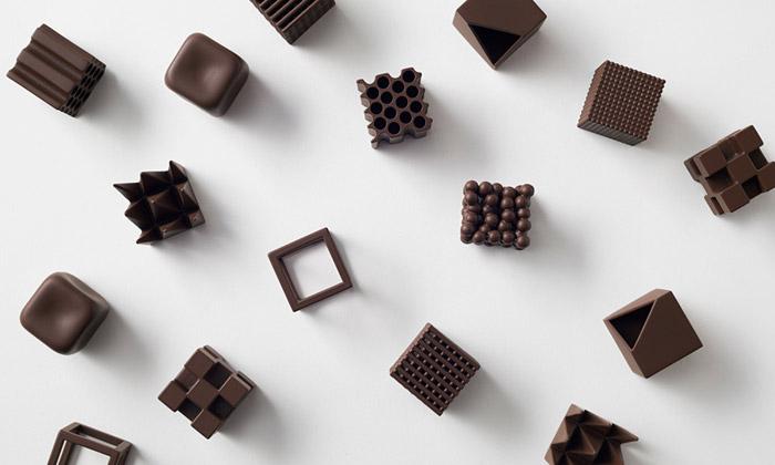 Nendo navrhli kolekci čokolád srozmanitými tvary