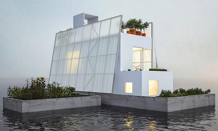 Paperhouses nabízí všem návrh plovoucího domu