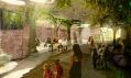 Pohled do interiéru expozice od vstupu do pavilonu