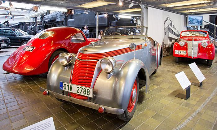 NTM vPraze vystavuje unikátní Automobily Jawa