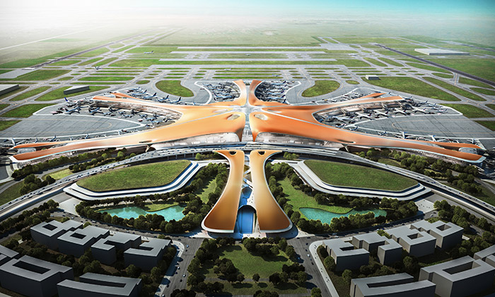 Zaha Hadid navrhla pro Čínu největší letiště světa