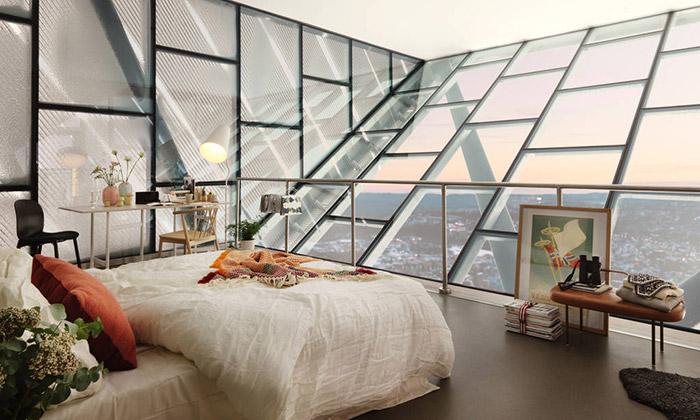 Skokanský můstek Holmenkollen nabízí apartmán