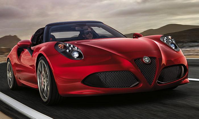 Alfa Romeo 4C Spider jeroadster votevřené verzi