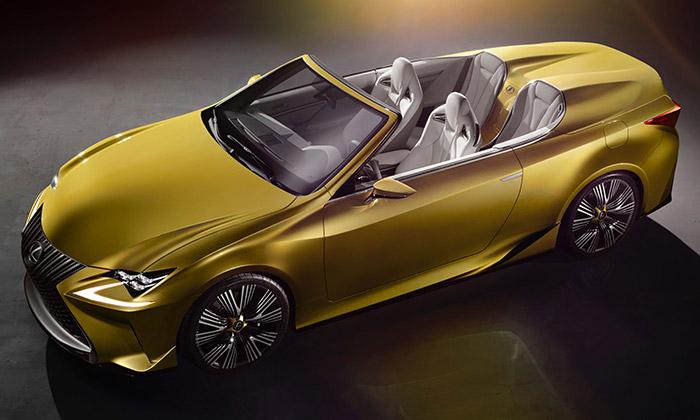 Zlatavý roadster LF-C2 ukázal směr designu Lexus