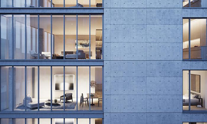 Tadao Ando navrhl bytový dům 152 Elizabeth Street