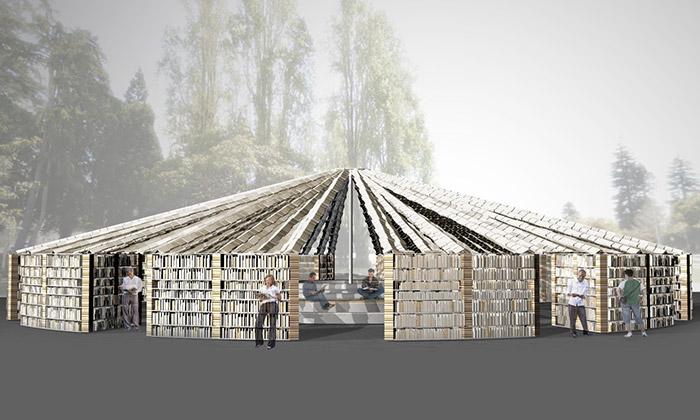 San Francisco staví venkovní knihovnu z50000 knih