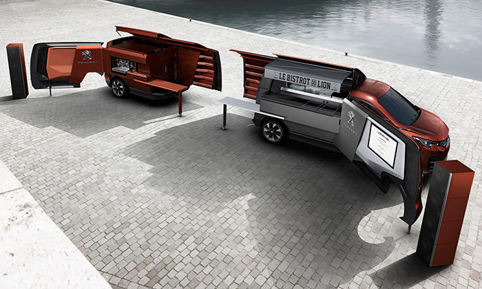 Peugeot Design Lab vytvořil stylové pojízdné bistro