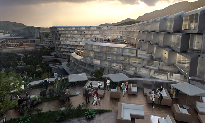 Zaha Hadid staví bytový komplex Esfera City Center