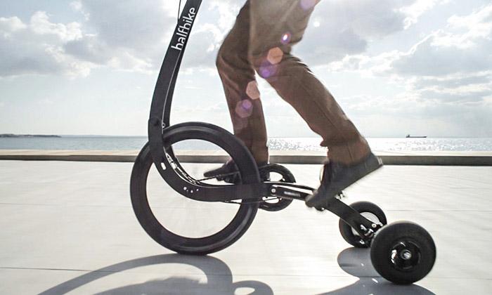 Halfbike II jemoderní skládací tříkolka doměsta