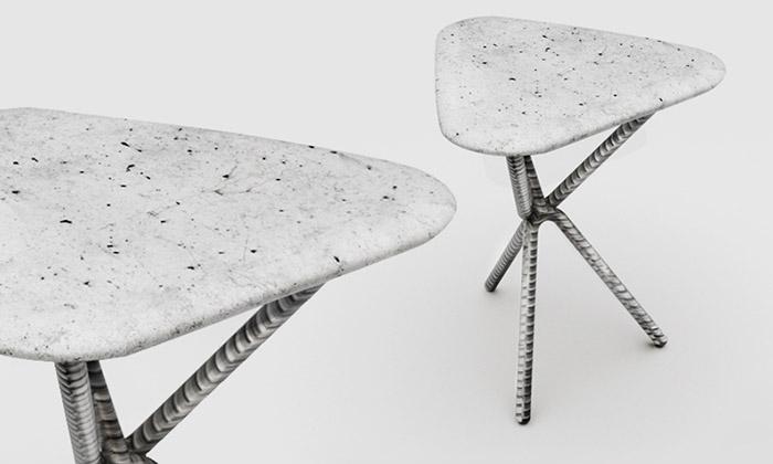Soutěž Werk Design vyhrála stolička zoceli abetonu