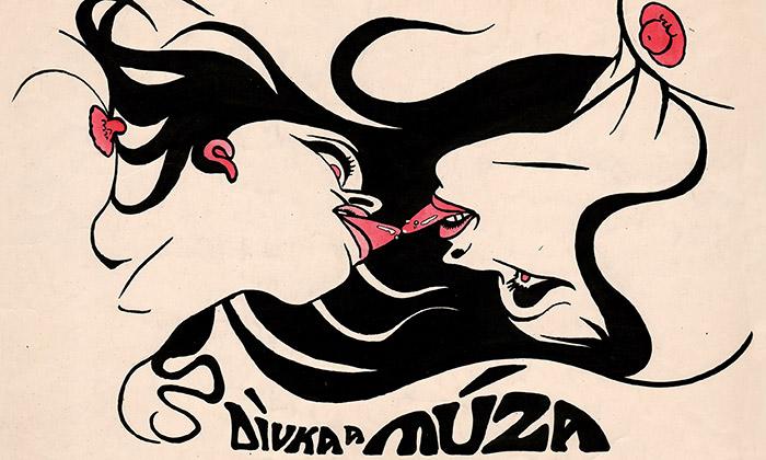 Tančící dům výstaví erotické kresby Káji Saudka