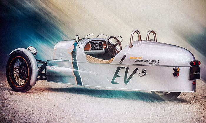 Morgan vytvořil elektricky poháněnou tříkolku EV3