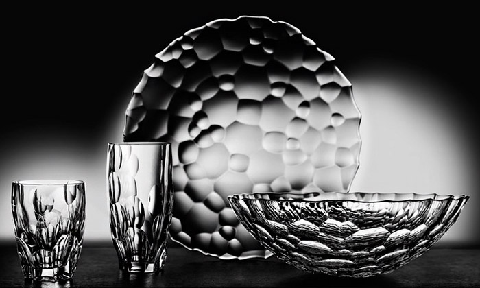 Kolekce skla Sphere od českého designéra Romana Kvity pro značku Nachtmann