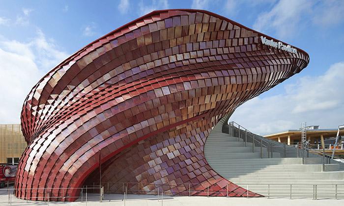 Libeskind vytvořil pavilon Vanke pro Expo jako draka