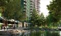 Nová městská čtvrť Embassy Gardens v Londýně