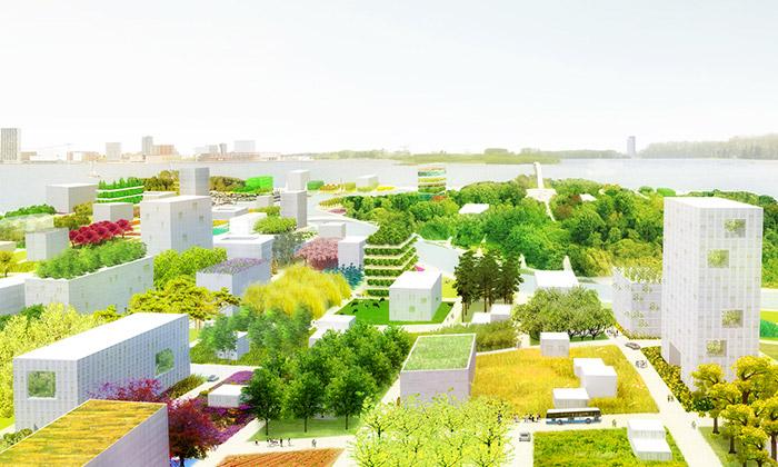 Zahradnický poloostrov Floriade 2022 staví MVDRV