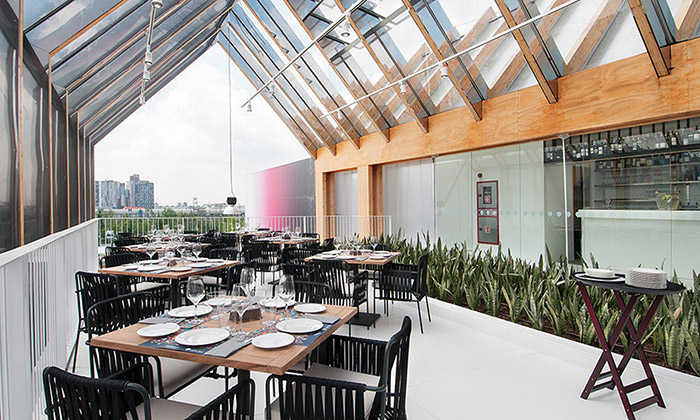 Španělský pavilon naExpo 2015 připomíná skleník