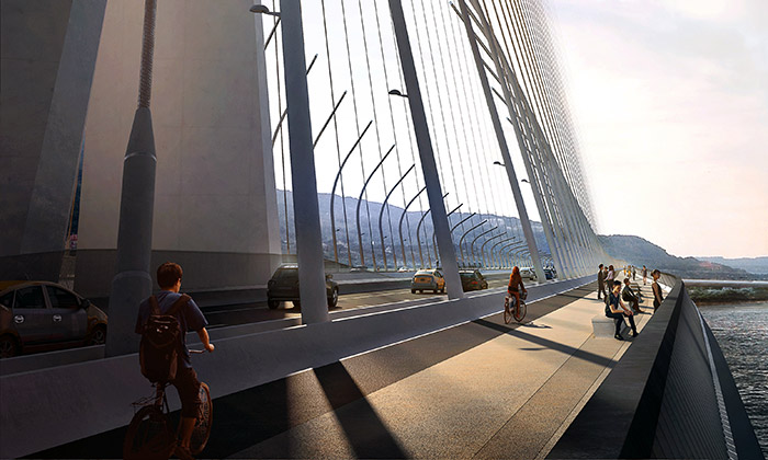 Danjiang Bridge na Tchaj-wanu od Zahy Hadid