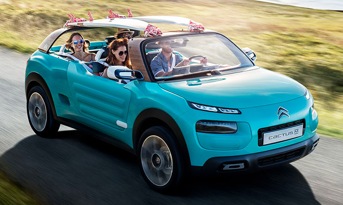 Citroën vytvořil otevřený plážový koncept Cactus M
