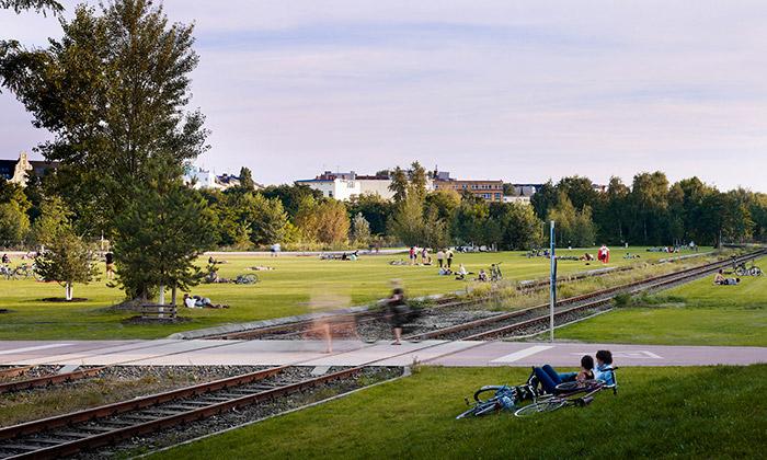 Berlín udělal zpustiny luxusní Park am Gleisdreieck