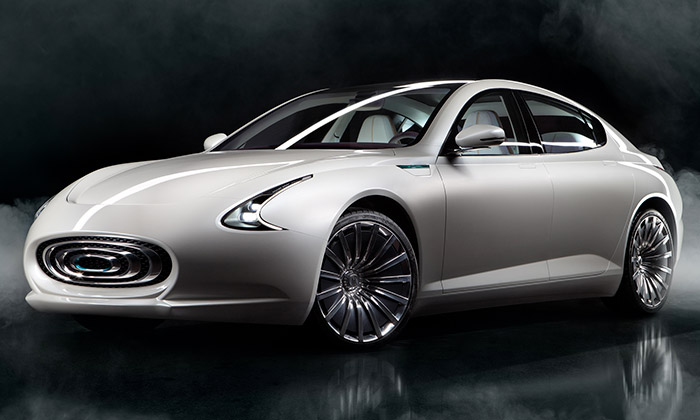 Thunder Power jeelektrický sedan vdesignu Zagato