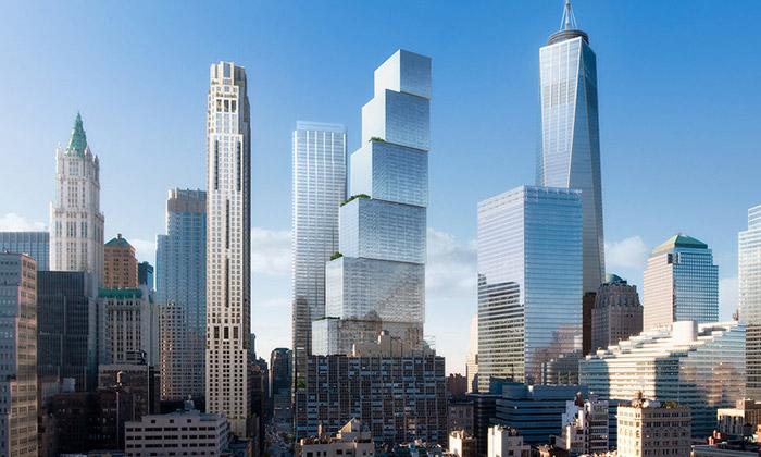 BIG staví vNew Yorku terasovitý mrakodrap 2 WTC