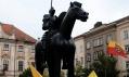 Jezdecká socha Jošta Lucemburského v Brně od Jaroslava Róny