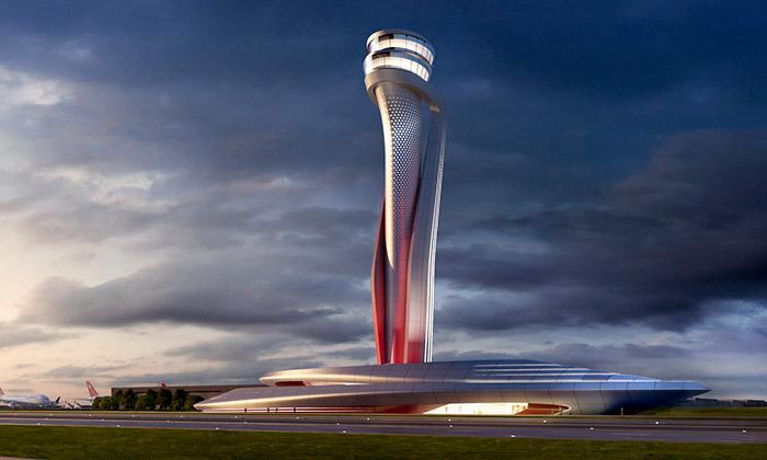 Věž pro řízení leteckého provozu v Istanbulu od AECOM a Pininfarina