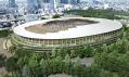 Vítězný návrh odKengo Kuma vobnovené soutěži naNárodní stadion vTokiu