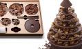 Čokoládový vánoční stromek Arbre de Noël oddvojice Alain Ducasse aPierre Tachon