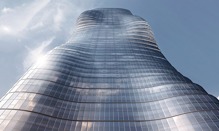 Premier Tower vMelbourne jeinspirován Beyoncé