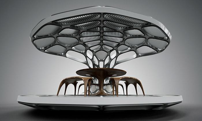 Zaha Hadid iRon Arad navrhli pavilony Revolution
