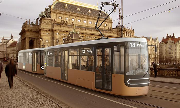 Studenti UMPRUM navrhli nové tramvaje pro Prahu