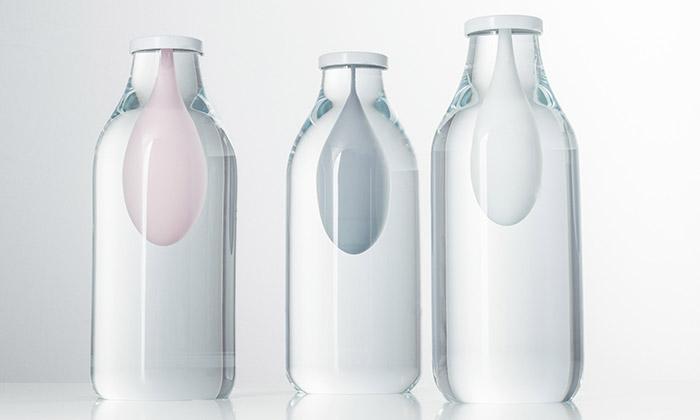 Trojice designérů vystavuje svá díla natéma mléko