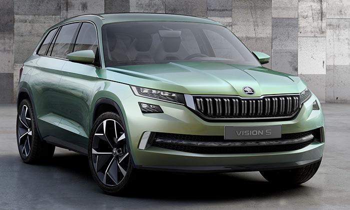 Škoda ukázala koncept SUV VisionS navizualizacích