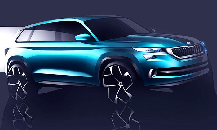 Škoda poodhalila koncept šestimístného SUV VisionS
