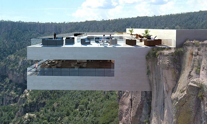 Restaurace Biré Bitori sebude vznášet nad kaňonem