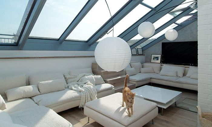Byt v Praze 6 se střešním prosklením Solara Perspektiv