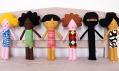 Ručně šité etno panenky Lollipop