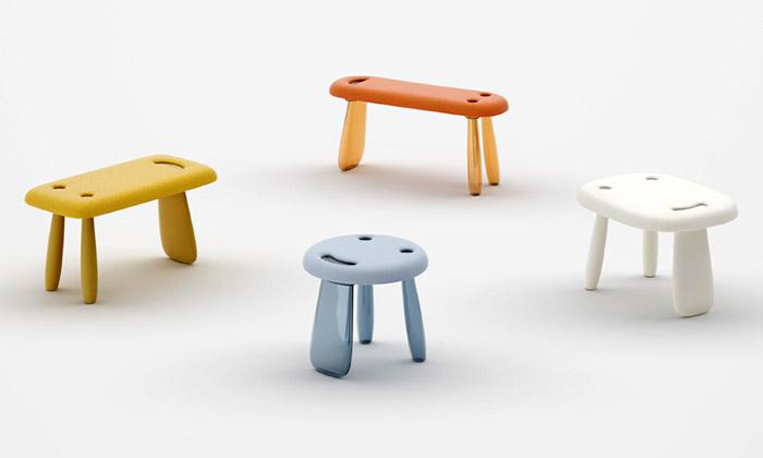 Nendo navrhlo usměvavé stoličky iprůhledného koně