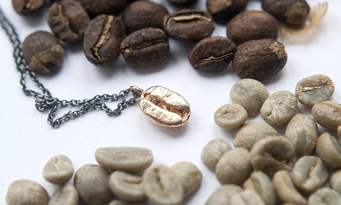 Projekt Kaa-wa tvoří šperky inspirované zrnky kávy