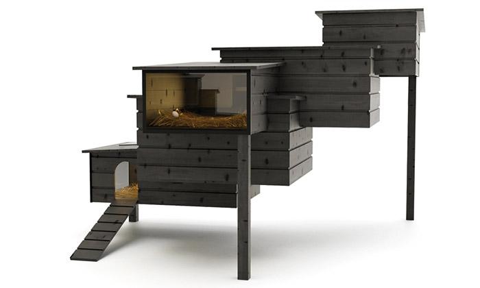 Frederik Roijé navrhl minimalistický venkovní kurník