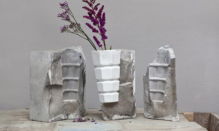 Vobouch kombinuje porcelán snezvyklými materiály