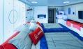 Speciálně upravený Skybox v O2 areně v Praze od Airbnb